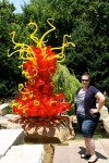Jessica with Chihuly Glass